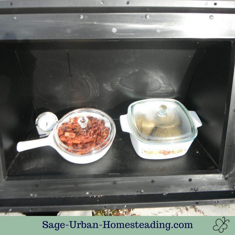 solar oven reheating