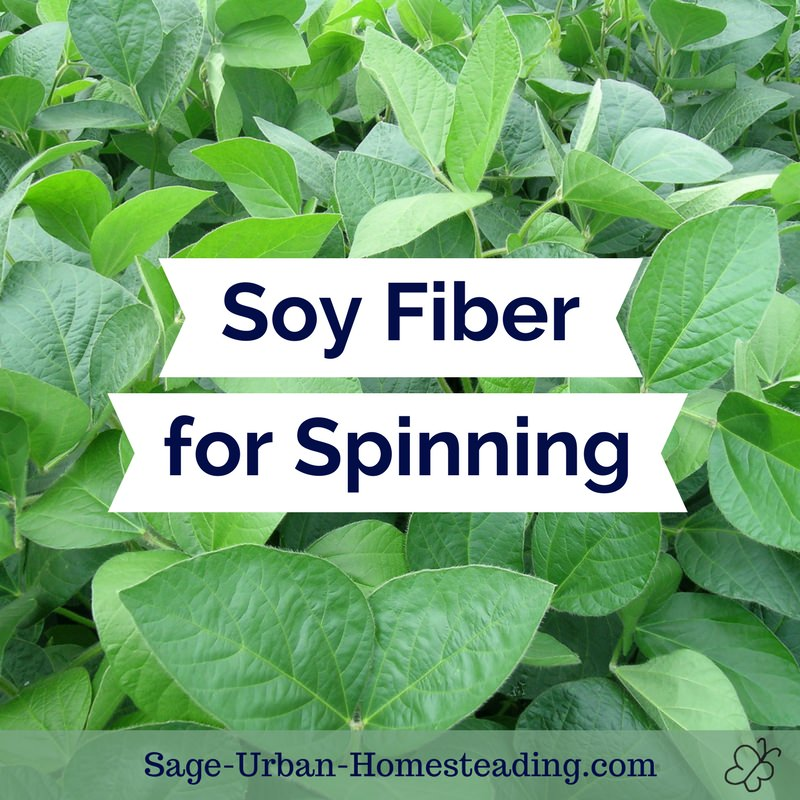 soy fiber for spinning