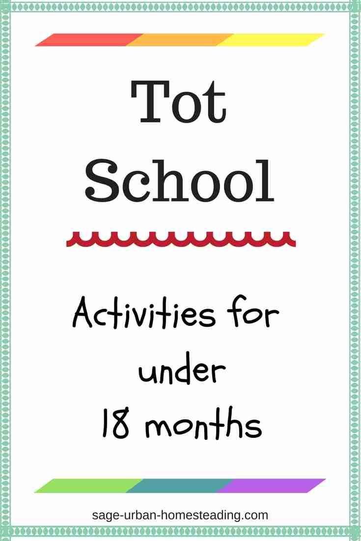 tot school activities for under 18 months