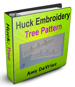 Huck Embroidery Tree Pattern