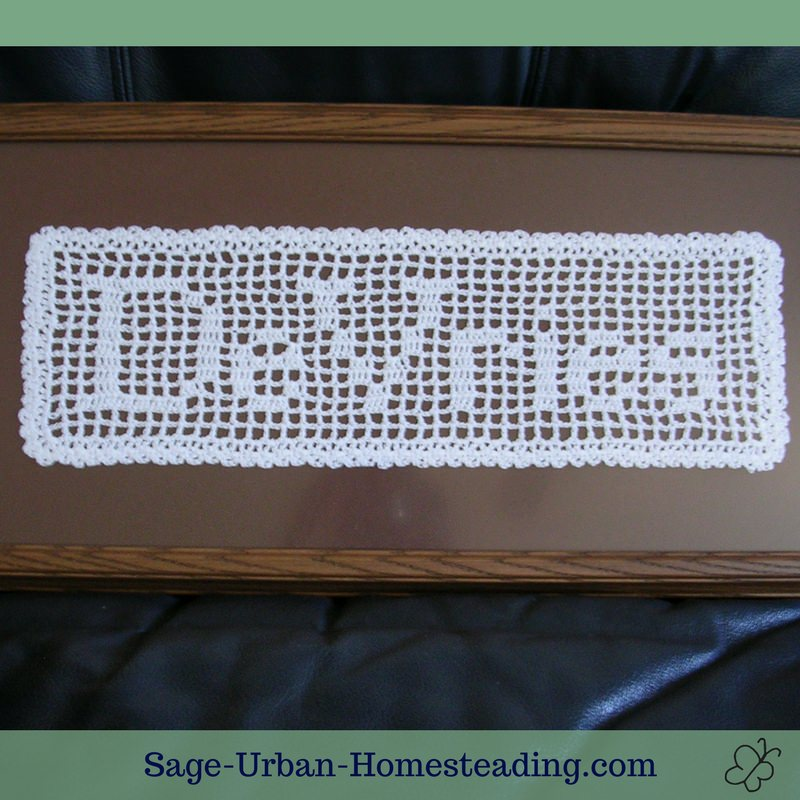filet crochet name