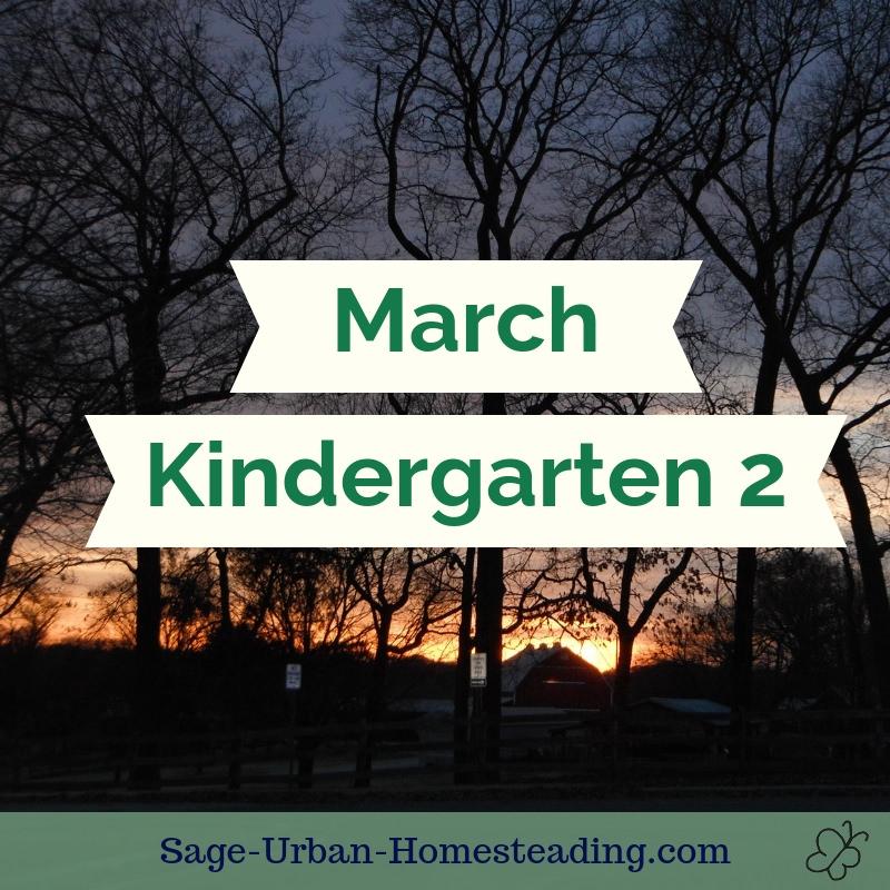 March kindergarten 2