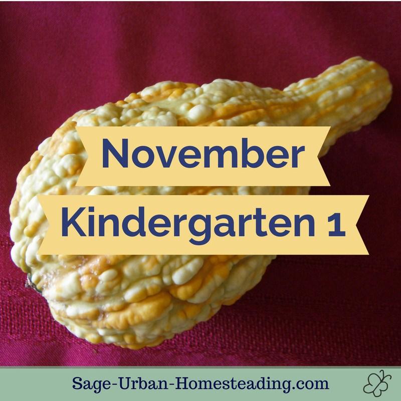 November kindergarten 1