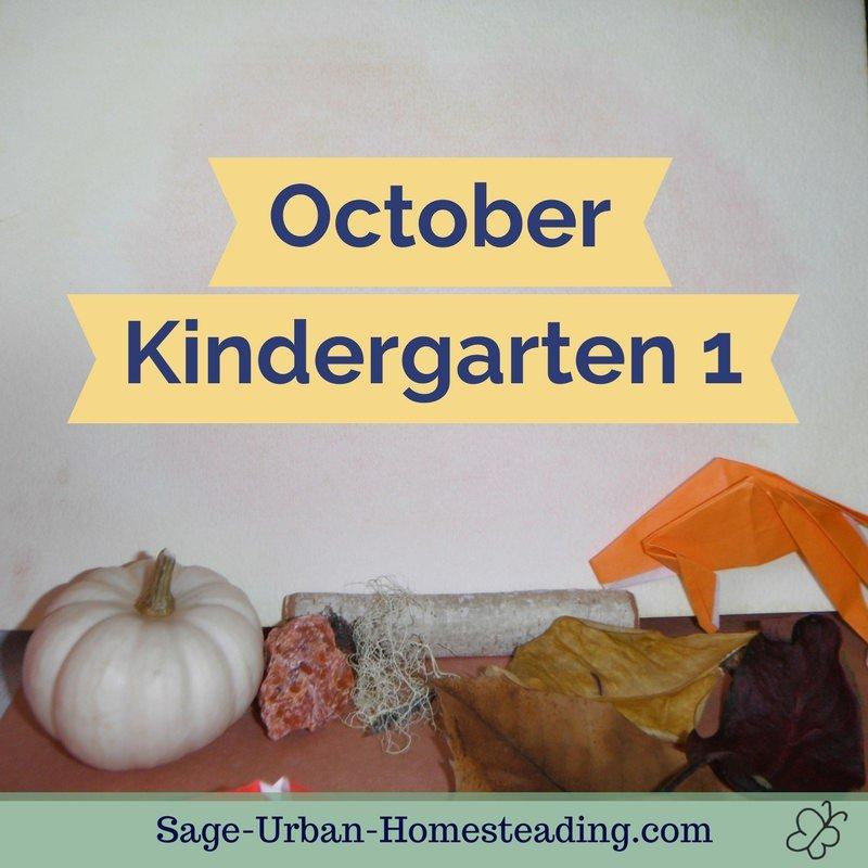 October kindergarten 1