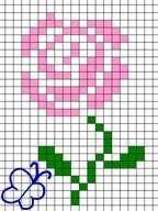 cross stitch rose count just right
