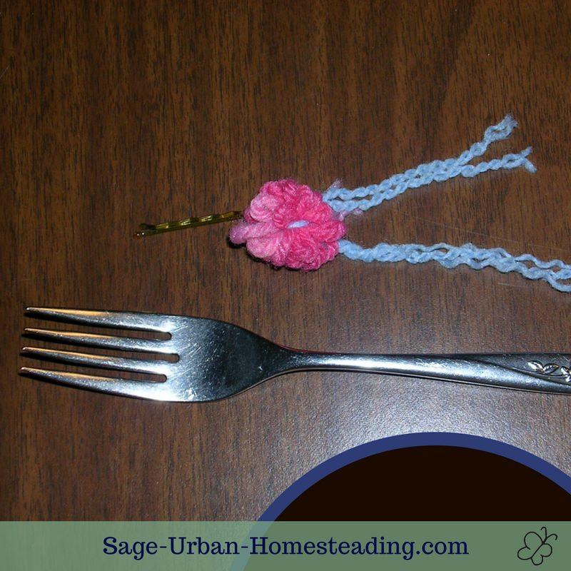 fork rose weaving