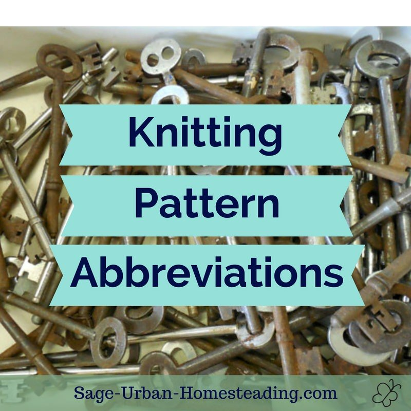 knitting pattern abbreviations