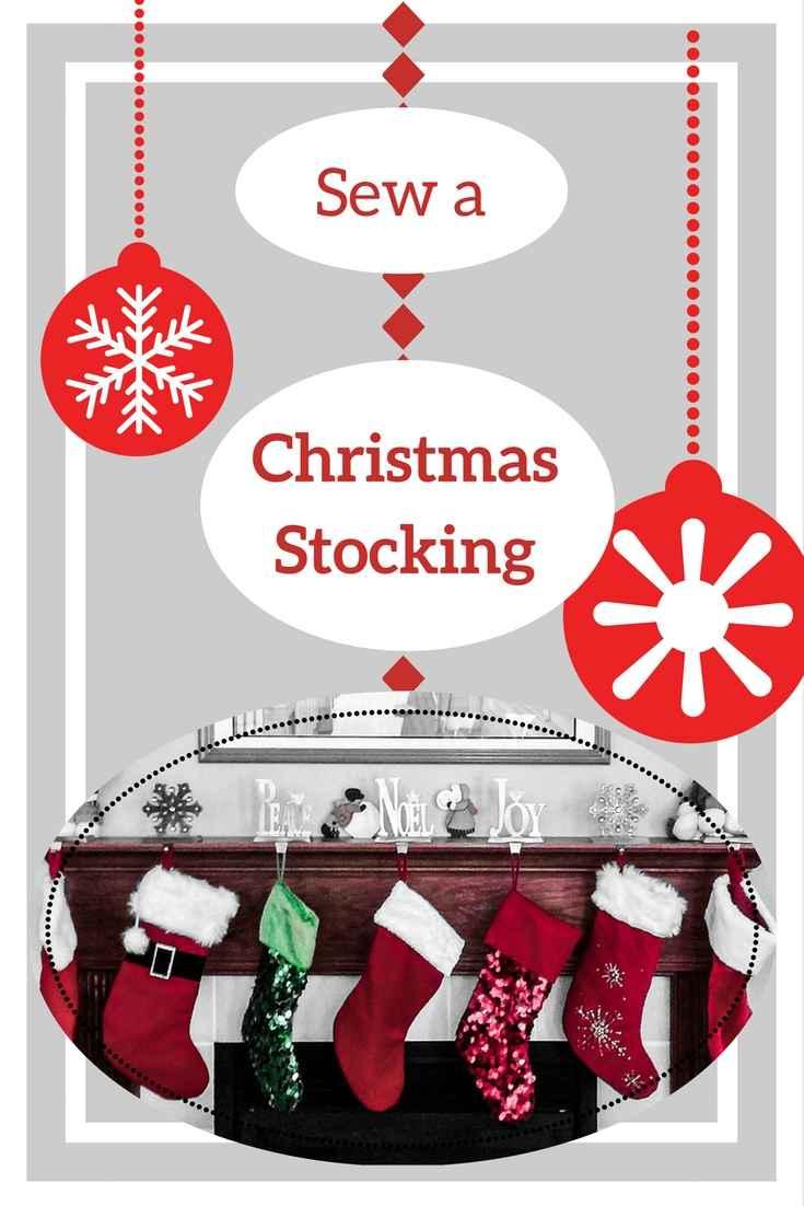 sew a Christmas stocking