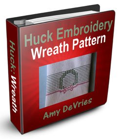 Huck Embroidery Wreath Pattern